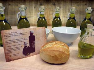So könnte es auch bei Euch auf dem Tisch aussehen, ein schönes Olivenölbuket